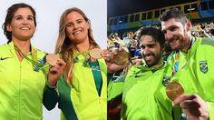Brasil conquista dois ouros no mesmo dia olímpico pela 1ª vez na história