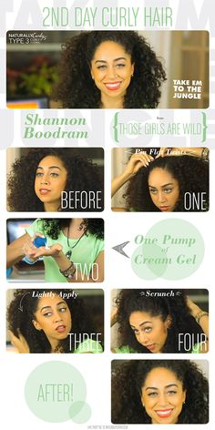 Refresh your curls and get second day hair!