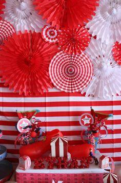 "fiesta vintangsPhoto 61 of Vintage Carnival / Birthday ""Carnival Extravaganza! Circus Carnival Party, Carnival Birthday Parties, Circus Birthday, Vintage Carnival, Birthday Party Themes, Carnival Diy, Circus Theme, Carnival Prizes, Carnival Mask"