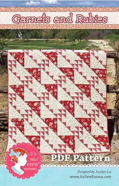 Garnets and Rubies Quilt Pattern It's Sew Emma, Jocelyn Lai - Fat Quarter Shop Quilting Tutorials, Quilting Projects, Sewing Projects, Quilting Ideas, Sewing Ideas, Quilting 101, Quilting Board, Fun Projects, Project Ideas