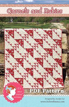 Garnets and Rubies Downloadable PDF Quilt Pattern It's Sew Emma, Jocelyn Lai
