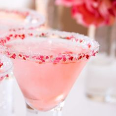Valentine's Day cocktail rim sugar - romantic Sweet Candy mix