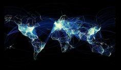 mapa de vuelos en el mundo