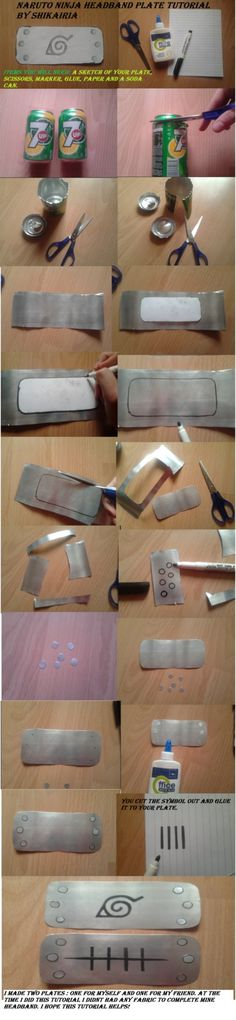 Naruto Ninja Headband Plate Tutorial by Shikairia on DeviantArt Costume Tutorial, Cosplay Tutorial, Cosplay Diy, Diy Tutorial, Anime Diys, Anime Crafts, Naruto Costumes, Naruto Cosplay, Naruto E Sasuke