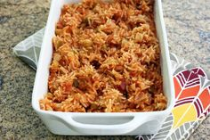 This Savannah style red rice recipe is made with tomatoes, bacon, rice, celery, onion, and seasonings. It's a classic Southern rice dish.