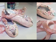 ▶ Paper Mache Ballet Slippers Tutorial - Shabbylishious DT Project - YouTube