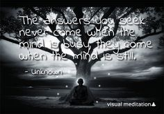 Still your #mind and listen your inner voice. #meditation http://visualmeditation.co