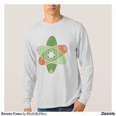 Shop Atomic Camo Kiwi Atom Science Orange Green T-Shirt created by MadeByPiksu.
