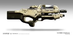 Prop Design by Zander Brandt: Mass Effect 2 M-96 Mattock Heavy Rifle