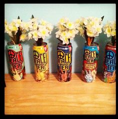 Recycled peace tea cans! #apartment #diy #college