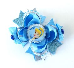Cinderella Inspired Boutique Bow  Hair by AddieLuBowtique on Etsy, $7.00
