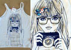 Camiseta com imagem linda