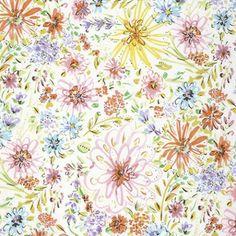 Butterfly Garden Floral Watercolor