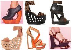 Window wedges - newest trend in footwear