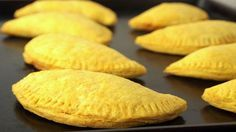 Today we are giving you the recipe to make your own Jamaican Beef or Chicken Patties at home. Jamaican Patties are very tasty snack items and can even be substituted for meals. Jamaican Cuisine, Jamaican Dishes, Jamaican Recipes, Beef Recipes, Snack Recipes, Cooking Recipes, Gourmet Recipes, Jamaican Restaurant, Jam Recipes