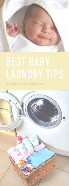 Amazing tricks, tips and gear for tackling baby laundry! Even includes the recipe for that famous DIY magic stain remover! Would make an excellent shower gift basket for a baby shower too. #babyclothes #clothes