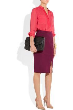 Emilio Puccistretch-crepe pencil skirt (great color combo)