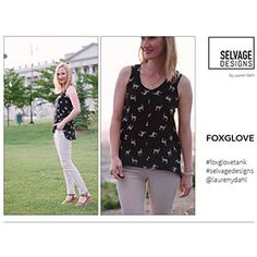 Selvage Designs Foxglove Tank Sewing Pattern