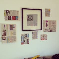 how to hang pictures..a brief tutorial
