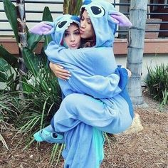 Buy Women Best Friends Animal Kigurumi Pajamas Costume Cosplay Pajamas Blue Stitch Onesie Adult at Wish - Shopping Made Fun Bff Pics, Photos Bff, Cute Friend Pictures, Best Friend Photos, Best Friend Goals, Best Friend Things, Crazy Best Friends, Disney Best Friends, Cute Bestfriend Pictures
