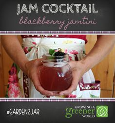 Blackberry Jamtini from Growing a Greener World. they have a whole bunch. i could use any of my jams! ah!