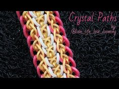 CRYSTAL PATHS Hook Only bracelet tutorial - YouTube