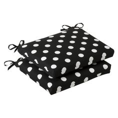Pillow Perfect Indoor/Outdoor Black/White Polka Dot Seat Cushion, Squared, 2-Pack Pillow Perfect,http://smile.amazon.com/dp/B003VSVNK4/ref=cm_sw_r_pi_dp_A6Fstb1XS9128X0H