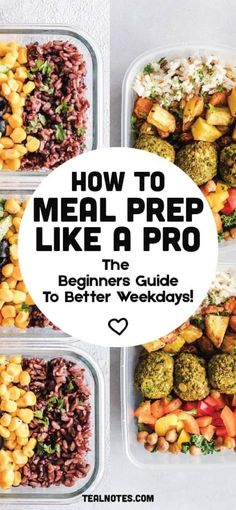 21 Easy Meal Prep Ideas— How To Meal Prep Starting This Week (A Guide) Meal Prep Grocery List, Easy Meal Prep, Healthy Meal Prep, Easy Meals, Healthy Eating, Healthy Recipes, Healthy Food, Meal Prep Guide, Diet Meal Plans To Lose Weight