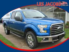 9713 – 2015 #Ford #F-150 XLT Extended Cab 4WD – Blue Flame with Medium Earth Gray Interior, Unleaded Twin Turbo V-6 2.7L, Auto, Power Steering, ABS, Tow Hooks, Steering Wheel Controls, All-Terrain Tires! #Used #Cars #Cassville, #MO
