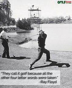 I see what you did there, Raymond. #golf #quote