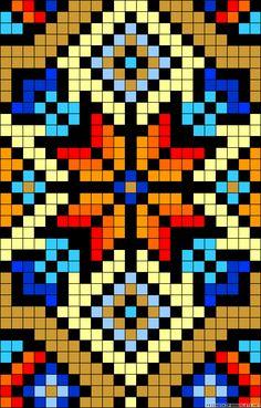 A50426 - friendship-bracelets.net Tapestry Crochet Patterns, Bead Loom Patterns, Beading Patterns, Cross Stitch Patterns, 123 Cross Stitch, Beaded Cross Stitch, Quilt Stitching, Cross Stitching, Graph Paper Art