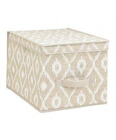 India Ikat Large Storage Box #zulily #zulilyfinds