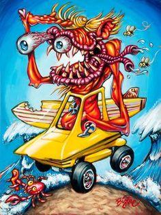 BigToe's Surfink Surfite archival art print by BigToeArt on Etsy, $50.00