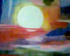 """obra """" Luna llena"""" Tecnica Abstrapto"""