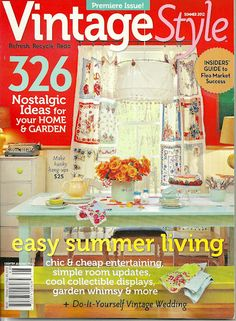 my casa...on the cover of a magazine  vintage style