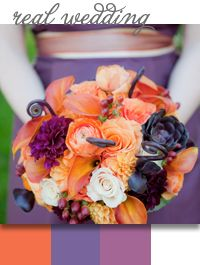 Style Unveiled - Style Unveiled | A Wedding Blog - Jennifer and Evan's Tangerine and Eggplant Wedding