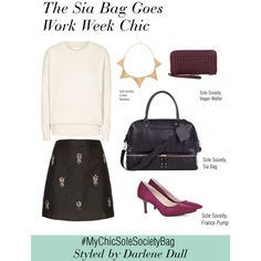 """How We Styled It: """"Work Week Chic With The Sia Bag"""" by solesociety on Polyvore"""