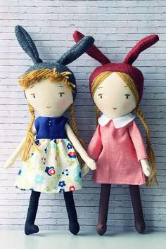 10 inches Rabbit Fabric Doll with a removable dress