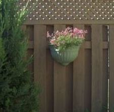 Planter to decorate your privacy fence