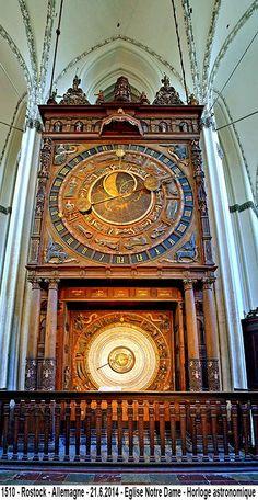 Rostock-Allemagne -Eglise Notre Dame - Horloge astronomique
