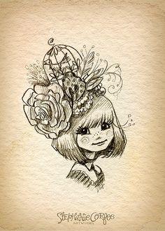 Eliza's Hat - ART PRINT