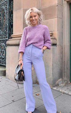 Musa do estilo: Laura Jade Stone - Guita Moda Pastel Fashion, Purple Fashion, Colorful Fashion, Look Fashion, Fashion Outfits, Womens Fashion, Colorful Outfits, Purple Outfits, Mode Monochrome