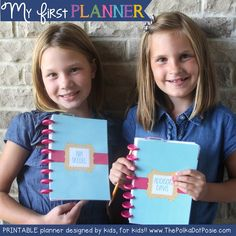 My First Planner - A Beginner planner designed by kids, for kids. Perfect for Kindergarten and older :) By ThePolkaDotPosie{Printables}