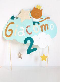 giochi di carta: Cake topper for baby's birthday