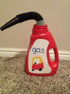 So cute, would love to do this if my future kids have a cozy coupe! DIY cozy coupe gas can Projects For Kids, Diy For Kids, Crafts For Kids, Recycling Projects, Baby Crafts, Garden Projects, Toddler Fun, Toddler Activities, Toddler Play Area