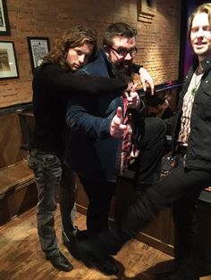 A cute, funny pic of Austin, Rob, and Adam.