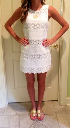 Lovely white lace dress