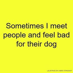 Funny jokes about people and their dogs. Jokes about people and dogs. Sometimes I meet people and feel bad for their dog. Some people don't deserve dogs. Dog Quotes, Funny Quotes, Funniest Quotes Ever, Fact Quotes, Random Quotes, Der Boxer, Frases Humor, Thats The Way, Just For Laughs