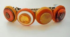 Orange Hair Barrette Fall Hair Barrette Yellow Gold by mscenna, $8.00