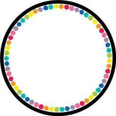 Color My Classroom - Circles - Editable! Page Borders, Borders And Frames, Student Centered Classroom, Japanese Typography, Typography Poster, Typography Design, Doodle Frames, Scrapbook Frames, School Frame